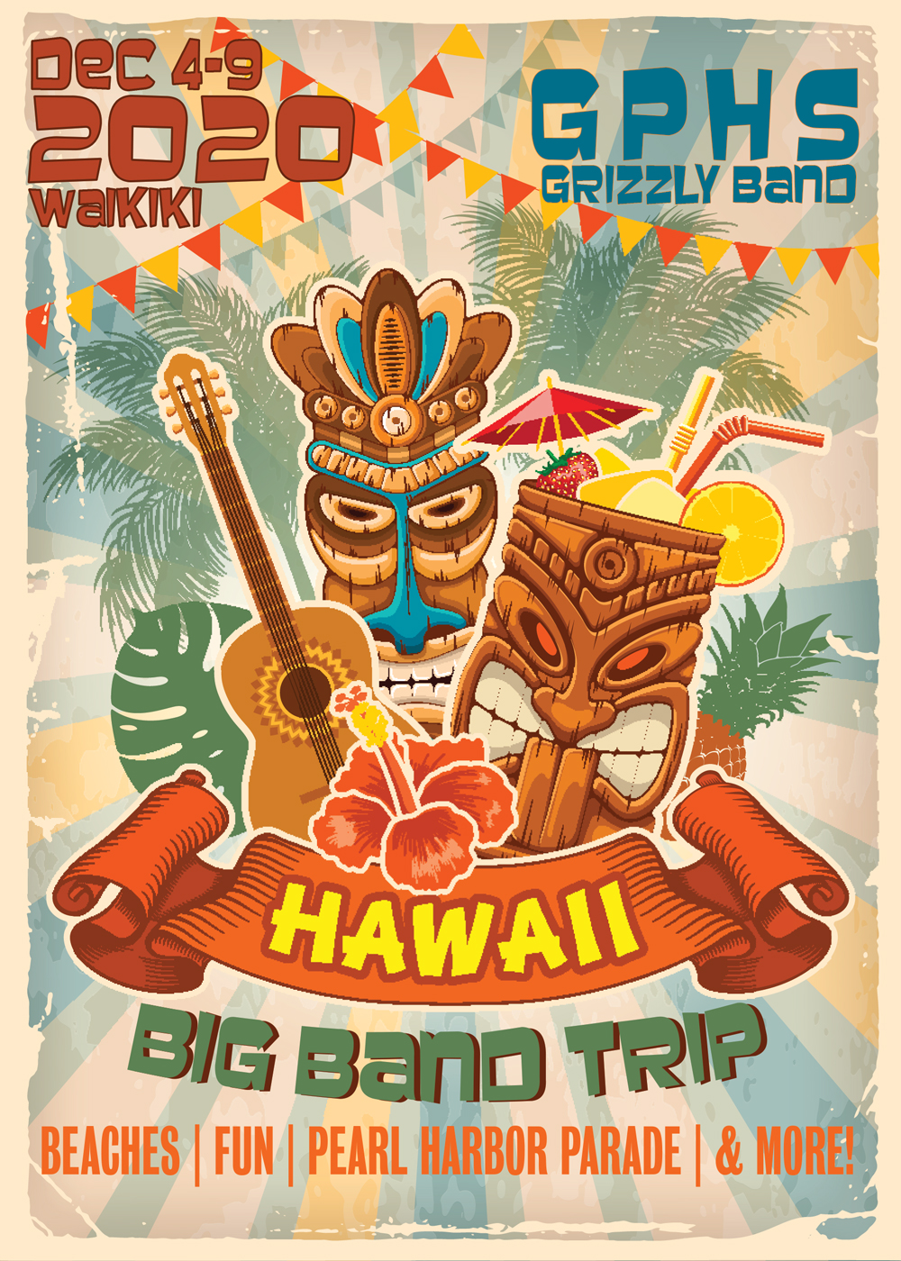 Poster for 2020 Band Trip Hawaii